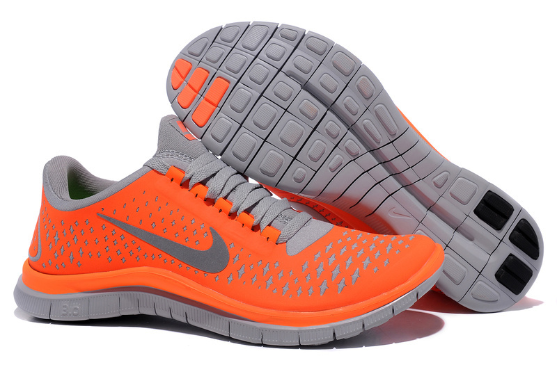 Nike Free 3.0 V4 Running Shoes Orange Grey