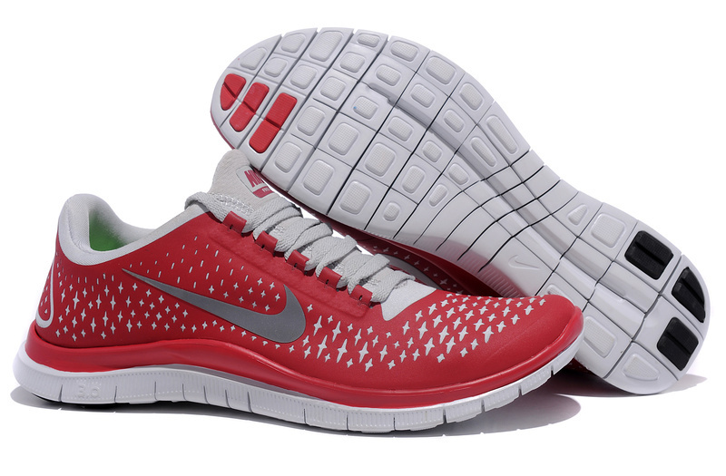 Nike Free 3.0 V4 Running Shoes Red Grey
