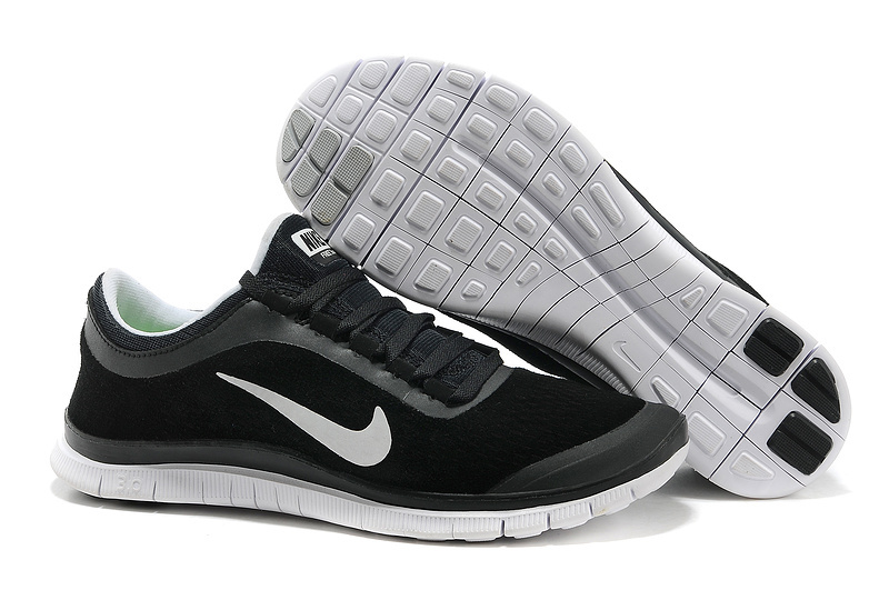 Nike Free 3.0 V5 Engrave Black White Running Shoes