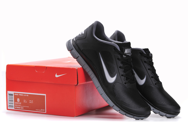Nike Free 4.0 Leather All Black Shoes
