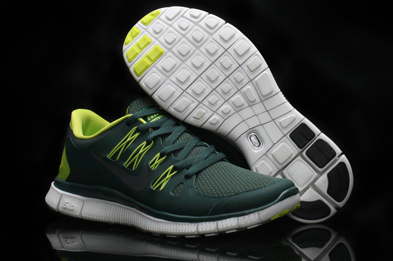Women Nike Free Run 5.0 2 Black Green Shoes