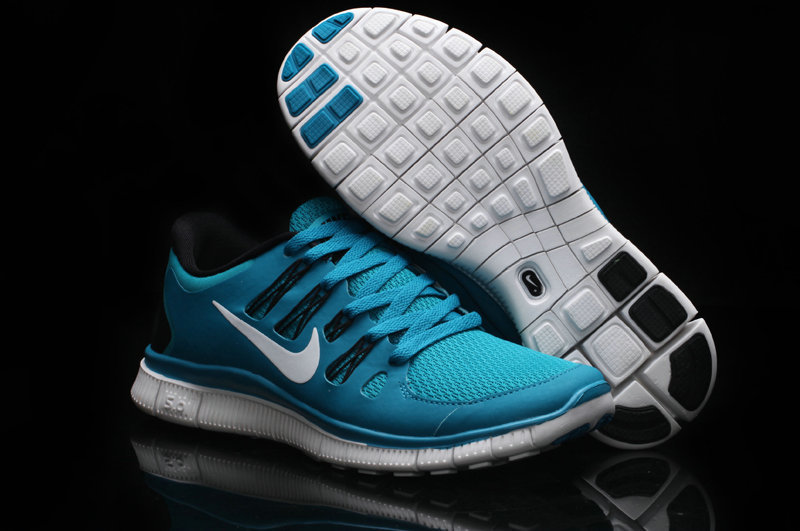 Women Nike Free Run 5.0 2 Blue White Shoes