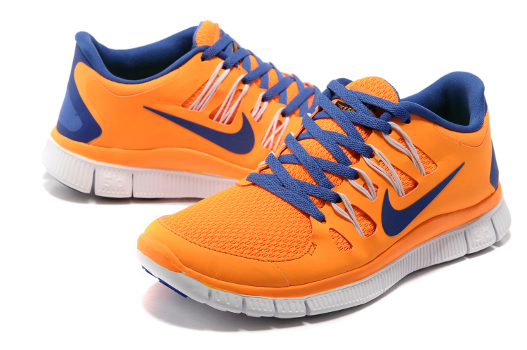 sports shoes c7604 7c6bc Women Nike Free 5.0 2 Orange Blue White Shoes