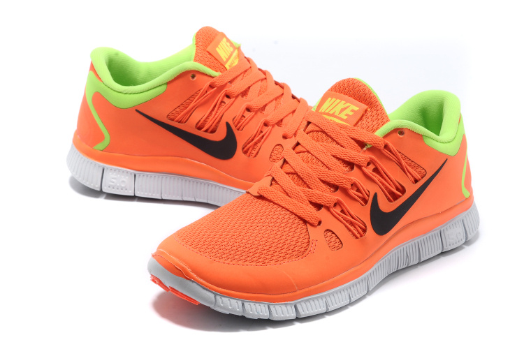 Nike Free 5.0 V2 Black Orange Green Women