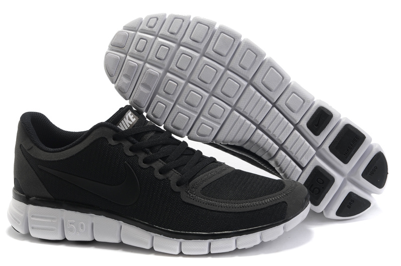 Nike Free 5.0 Running Shoes Grenadine Black White