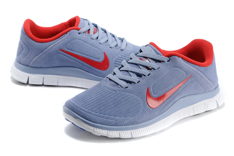 Women Nike Free 5.0 Suede Grey Red