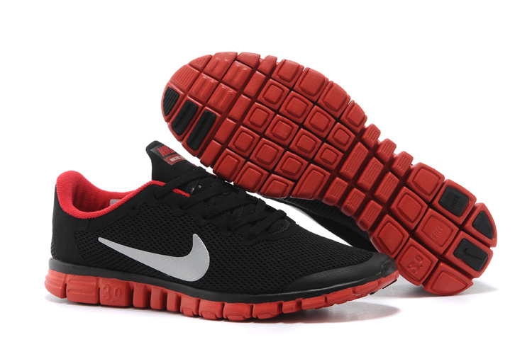 Nike Free Run.3.0 Boutique Black Red Women's Sport Shoes