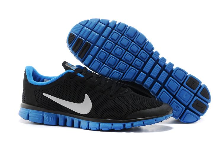 Nike Free Run30 Boutique Dark Black Blue White Sport Footwear