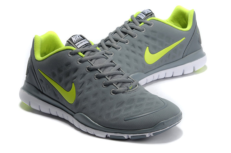 Nike Free TR Fit Grey Fluorescent Green Running Shoes