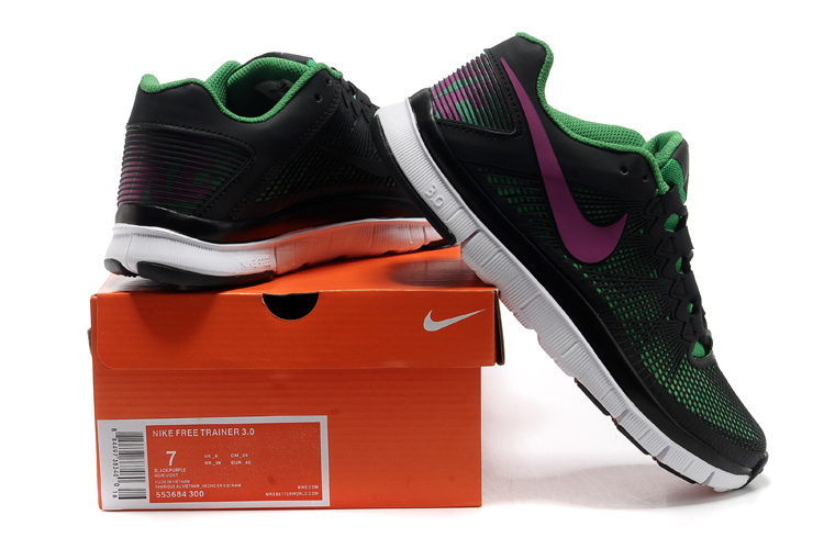 Nike Free 3.0 Trainer Black Green Purple Shoes