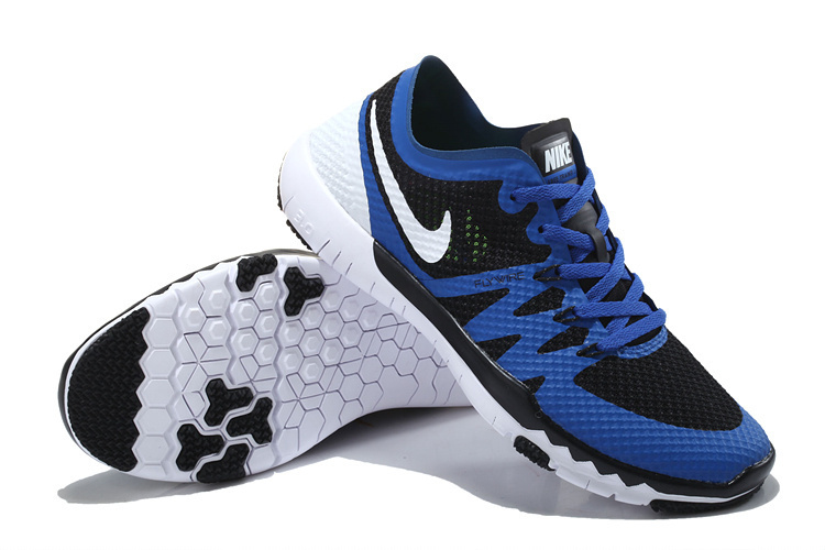 check out 3fdcd ff722 Nike Free Trainer 3.0 V3 Black Blue White Running Shoes