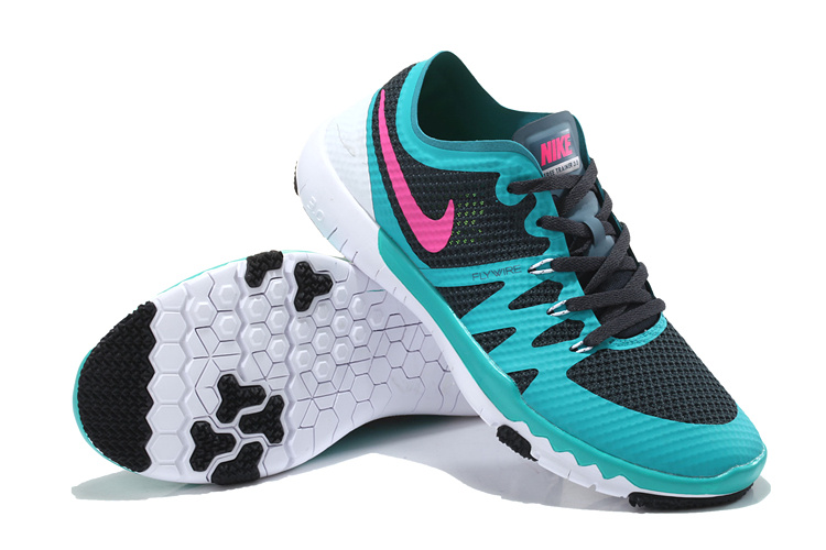 Nike Free 3.0 V3 Trainer Blue Black Pink Shoes For Women