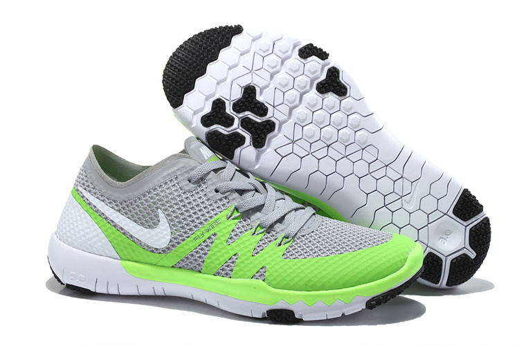 Nike Free Trainer 3.0 V3 Grey Green White Running Shoes