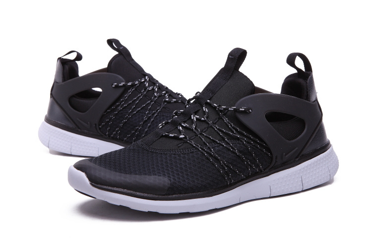 Nike Free Viritous Black White Running Shoes For Lover