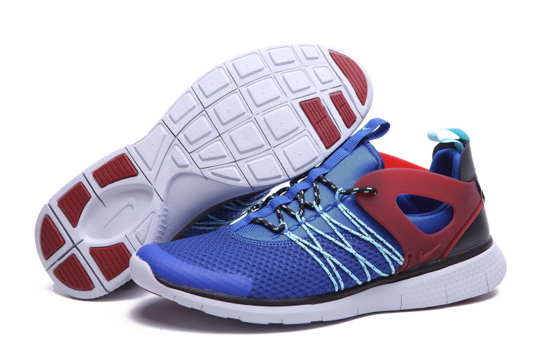 Nike Free Viritous Blue Red White Running Shoes