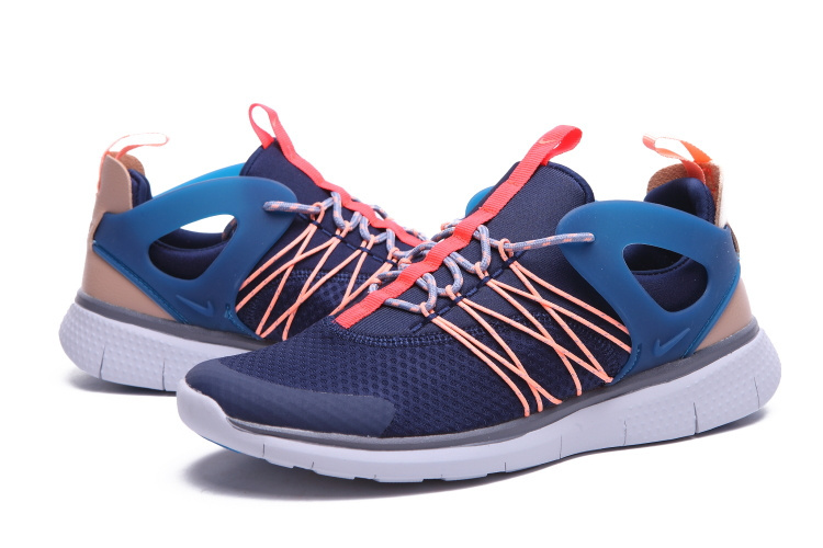Nike Free Viritous Deep Blue Orange White Running Shoes