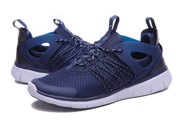 Nike Free Viritous Deep Blue White Running Shoes For Lover
