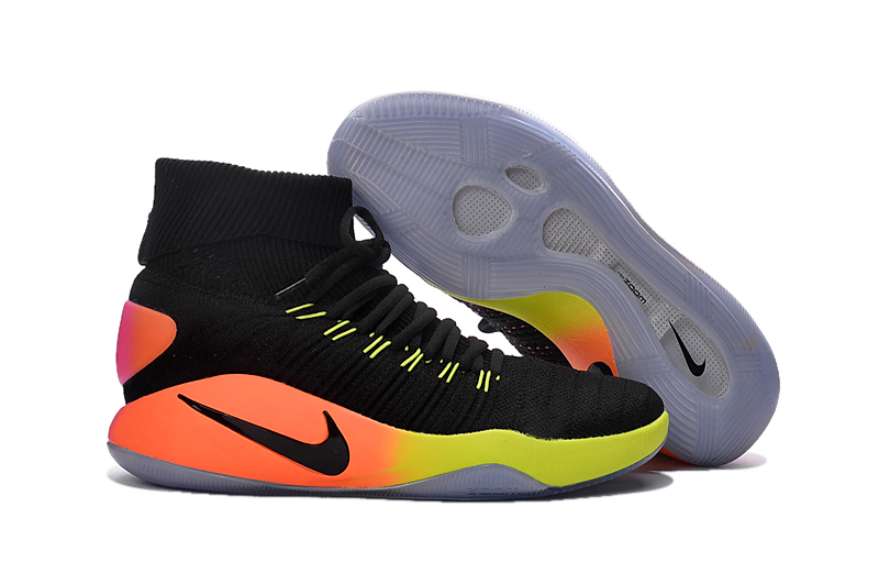 Nike Hyperdunk Flyknit Black Orange Green Basketabll Shoes