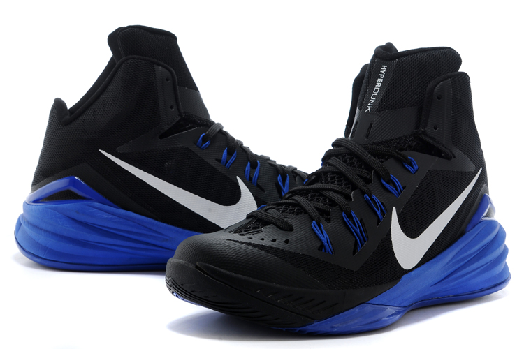 Nike Hyperdunk XDR 2014 Black White Blue Shoes