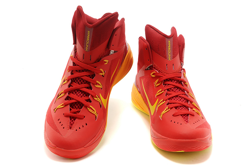 Nike Hyperdunk XDR 2014 Red Yellow Shoes
