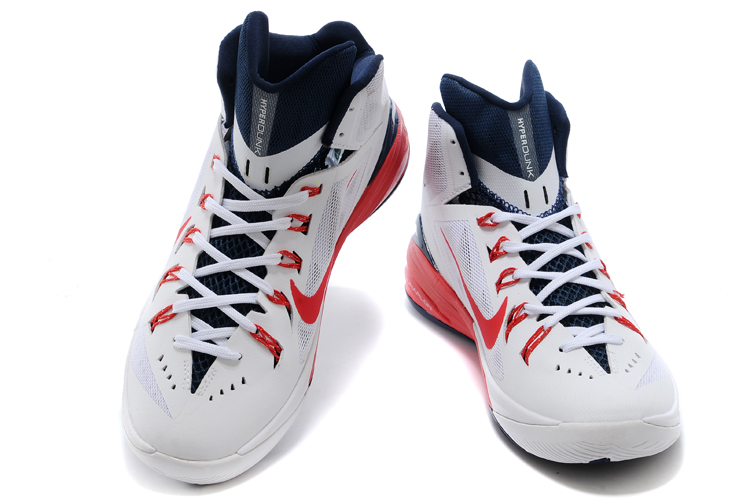 Nike Hyperdunk XDR 2014 White Blue Red Shoes