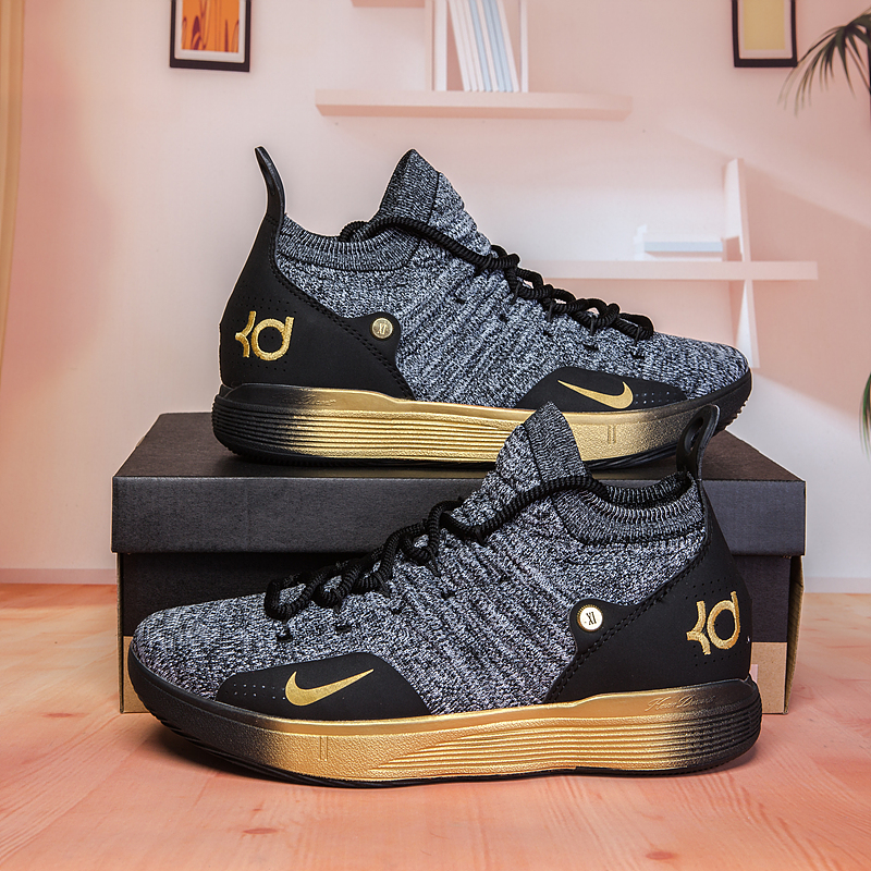 Nike KD 11 Black Gradual Gloden Basketball Shoes