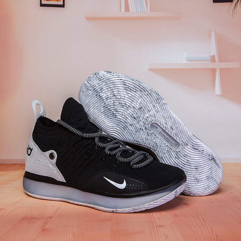 Nike KD 11 Black White Basketball Shoes