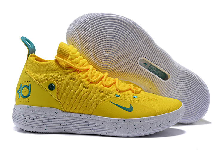Nike KD 11 EP Bright Yellow Storm Shoes