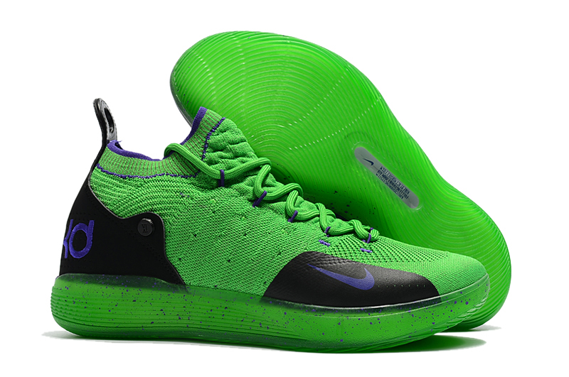 Nike KD 11 Green Purple Basketball Shoes