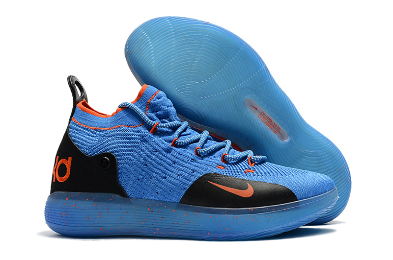 Nike KD 11 Jade Blue Orange Basketball Shoes