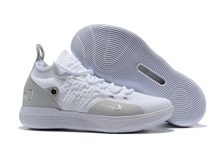 Nike KD 11 White Grey Sliver Basketball Shoes