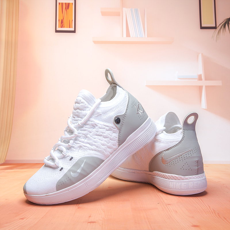 Nike KD 11 White Sliver Basketball Shoes