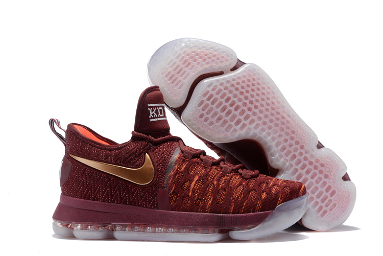 Nike KD 9 Christmas The Sauce Deep Burgundy Metallic Red Bronze