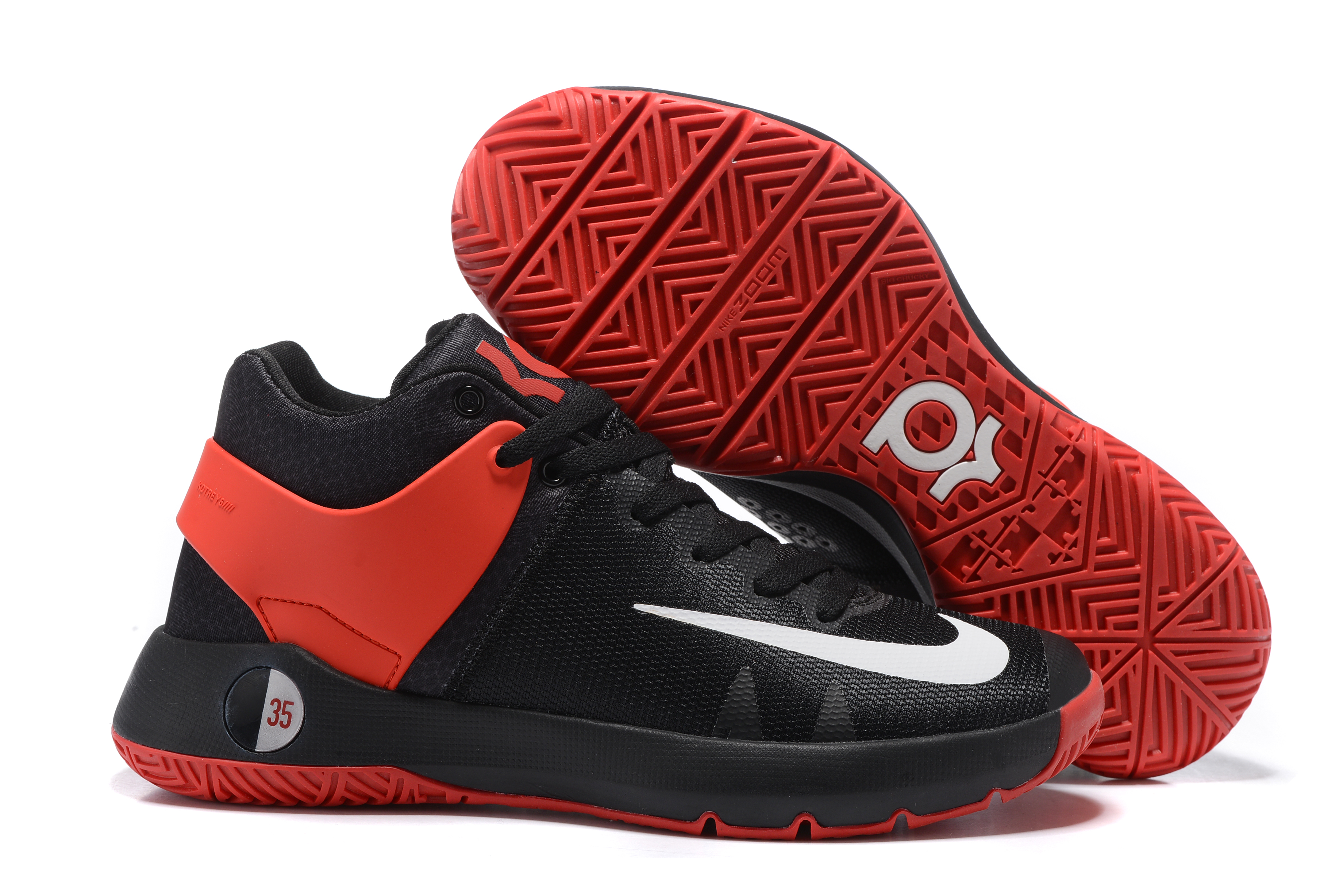 Nike KD Trey 5 IV Black White Red Basketball Shoes