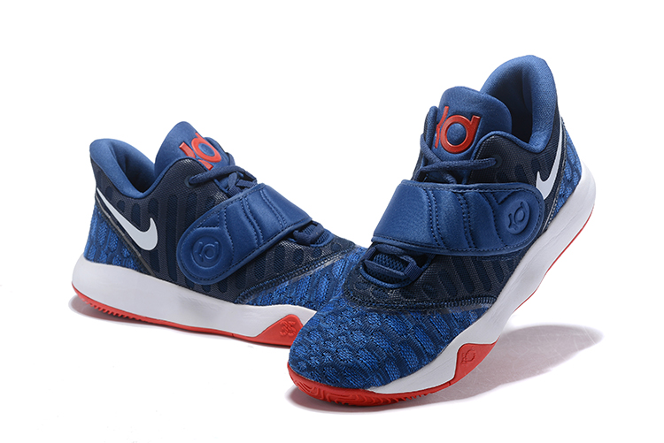 Nike KD Trey 5 VI Navy Blue White Red Mens Basketball Shoes