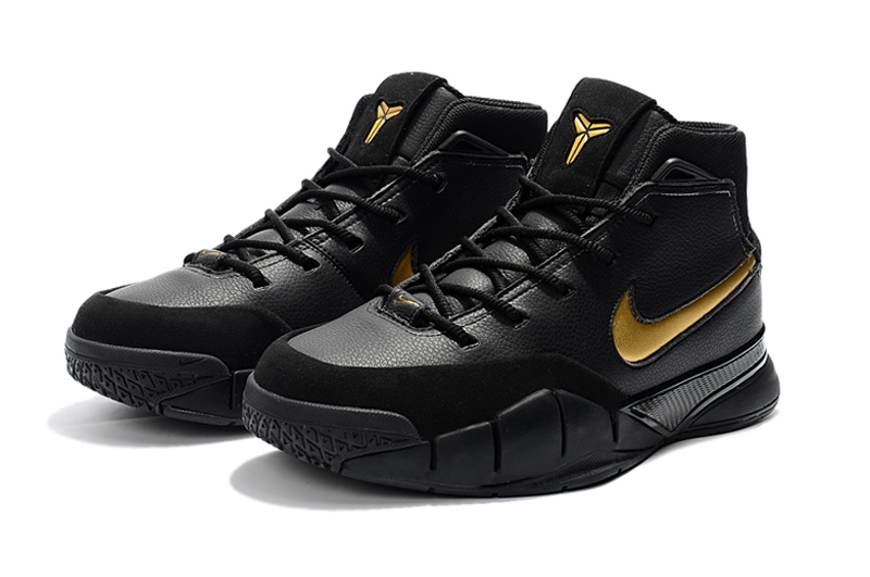 best sneakers db297 8e87e Nike Kobe 1 Protro ZK1 Black Gloden Shoes