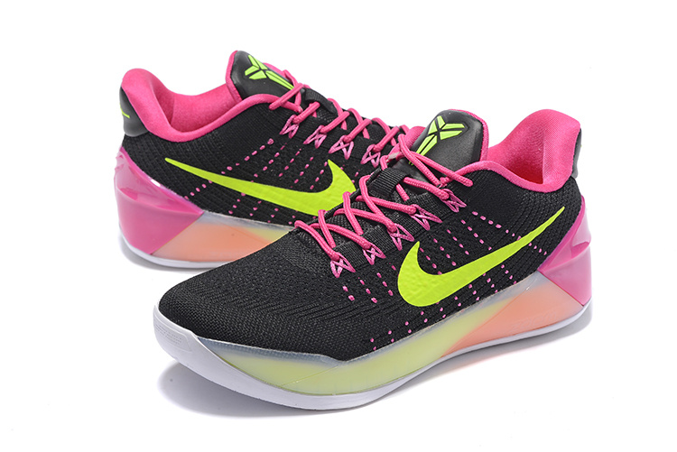 Nike Kobe A.D Black Pink Fluorscent Basketball Shoes For Women