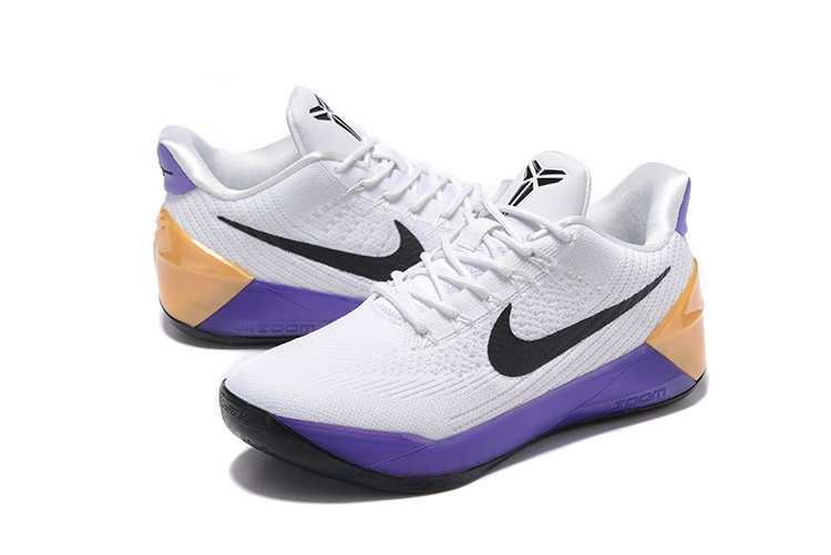 Nike Kobe A.D White Purple Gold Basketball Shoes For Women