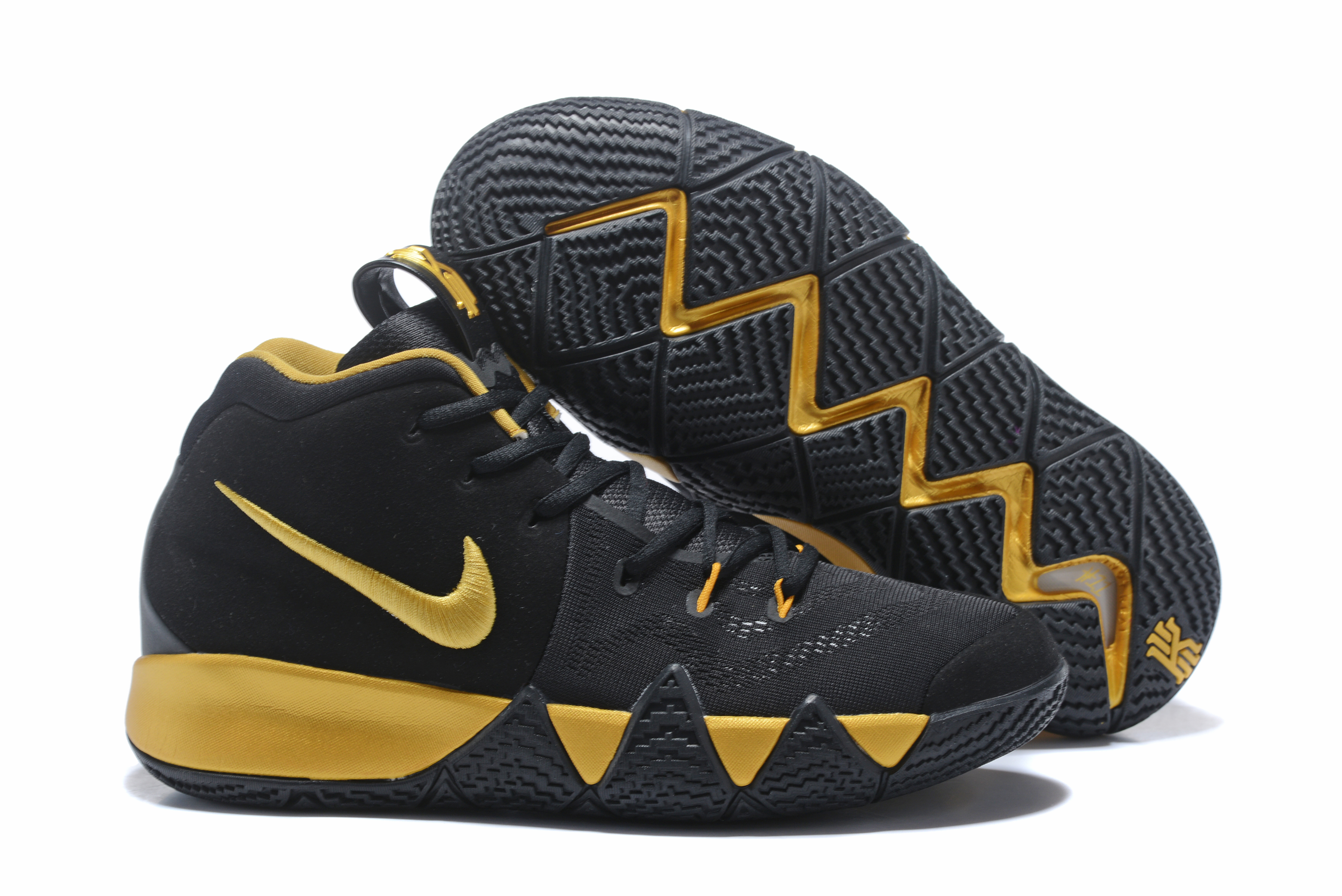 Nike Kyrie 4 Black Gloden Shoes