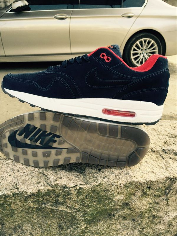 New Nike LAB Air Max 1 Black Red White Running Shoes