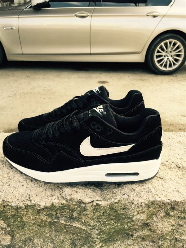 New Nike LAB Air Max 1 Deluxe Black White Running Shoes