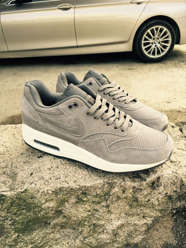 New Nike LAB Air Max 1 Deluxe Grey White Running Shoes