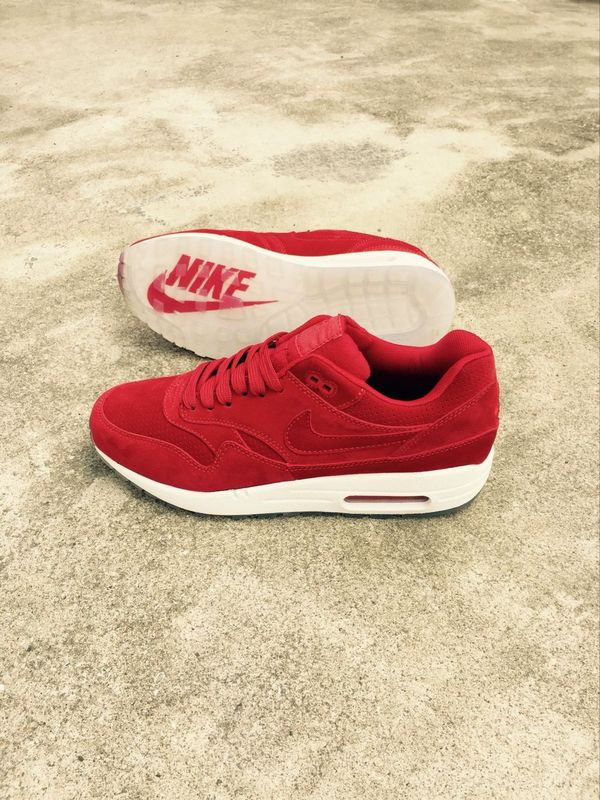 New Nike LAB Air Max 1 Deluxe Red White Running Shoes