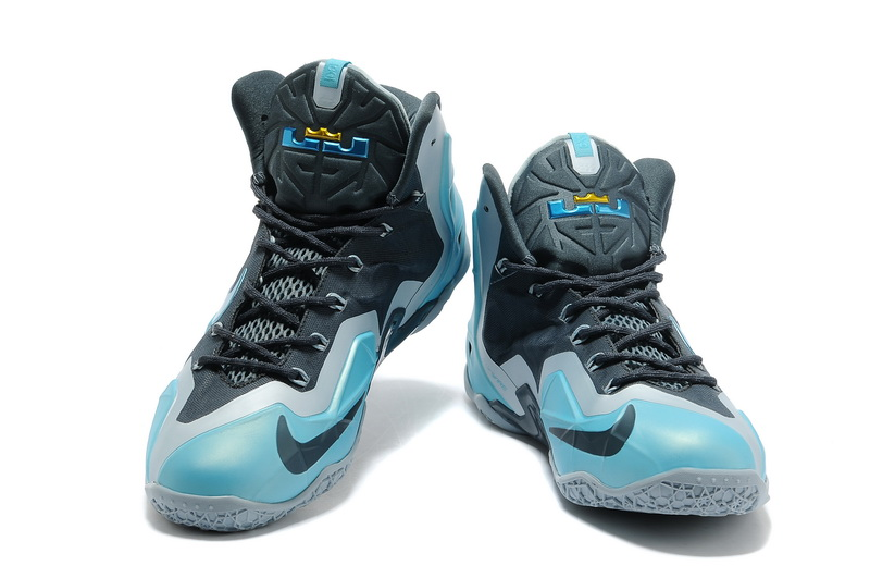 Nike Lebron 11 Carbon Grey Blue Basktabll Shoes