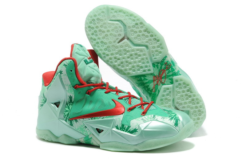 Nike Lebron 11 Christmas Red Basktabll Shoes