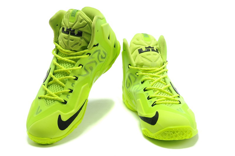 Nike Lebron 11 Flourscent Green Black Basktabll Shoes