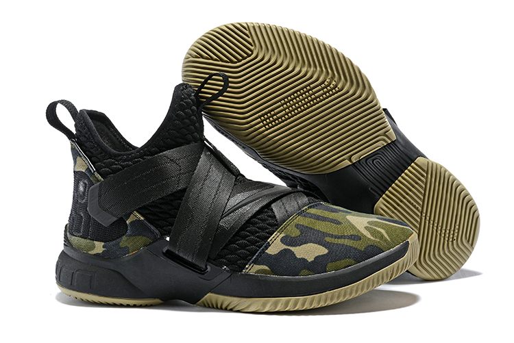 Nike Lebron 12 Army Green Camou Shoes