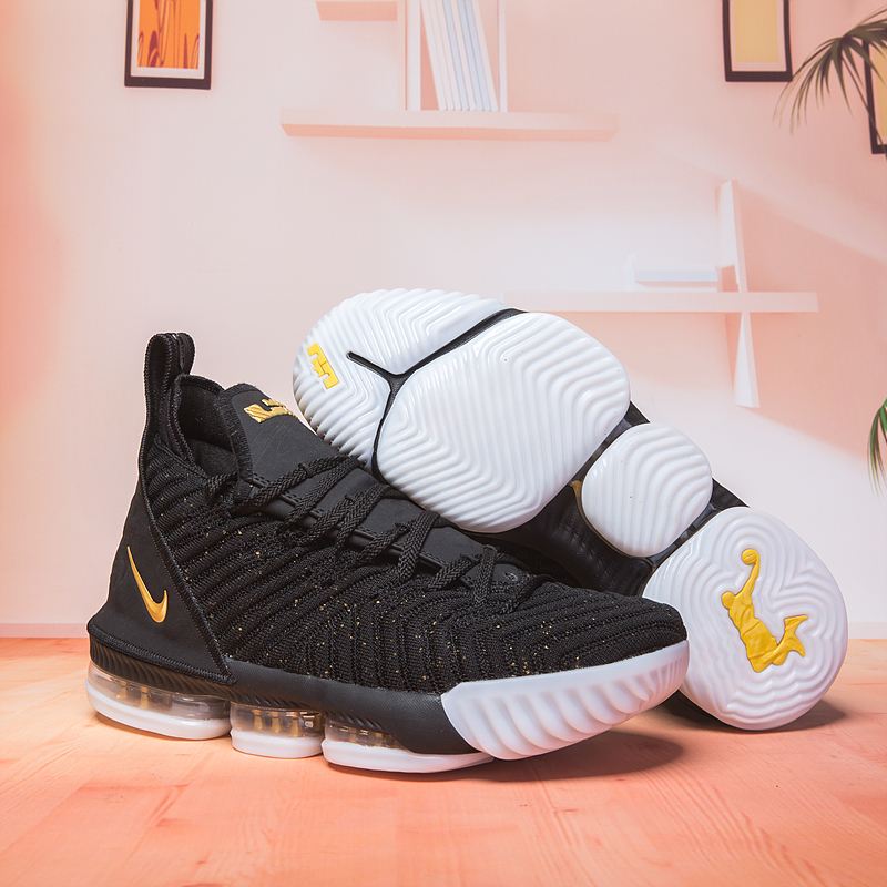 Nike Lebron 16 Black Gloden Basketball Shoes