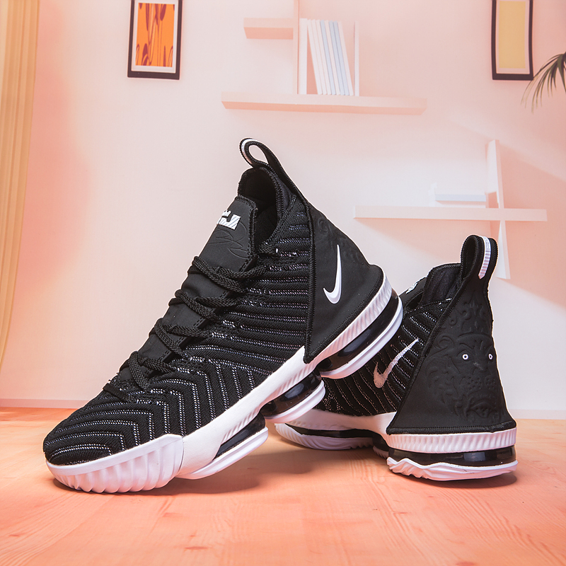 Nike Lebron 16 Black White Basketball Shoes