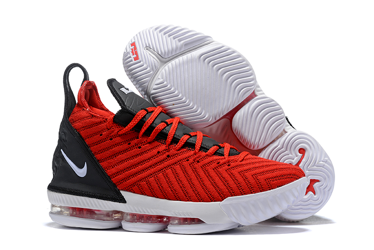 Nike Lebron 16 Full Palm Air Cushion Black Red Shoes